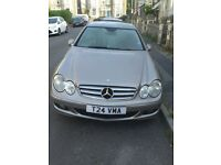 MERCEDES BENZ CLK 320 CDi ELEGANCE 7G-TRONIC AUTO COUPE 2 DOOR IN SILVER WITH BLACK LEATHER INTERIOR