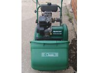 Qualcast Classic Petrol 35S Push Reel Cylinder Lawnmower Lawn Mower - Self-Propelled