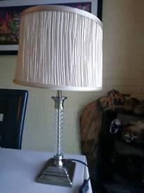 Beige pleated lamp