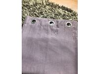 Mauve curtains 90 x 72 in excellent condition