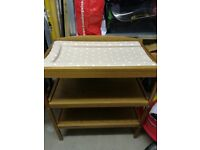 wooden baby changing table/ unit/ station and mat