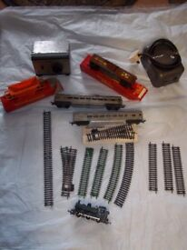 Model railway train and items