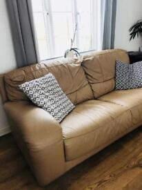 Leather sofas , 3seaters x 2
