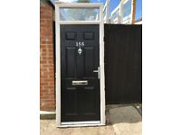 Upvc compasite doors 36.5x95 inches or 82 if you cut top off