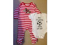 Official Arsenal baby grow 0-3 months