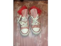 Red/pink Converses/Converse shoes