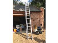 10.2m three extendable ladders