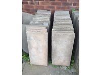 Concrete Paving Slabs x113 60cm x 60cm AND x9- 60cm x 30cm *COLLECTION ONLY*