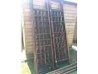 Wooden 3m x 3m gazebo. Needs a bit if tlc(library photo)