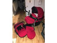 Red silvercross 3d Pram pushchair