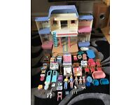 Large Fisher Price Doll House - unfolds - fully furnished!