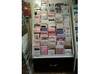 Greetings Card Retail Display Stand With Drawers