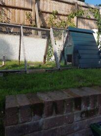 Rabbit hutch and run for sale