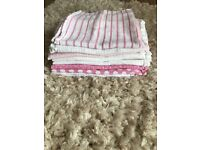 10x baby girl muslin cloths, in very good condition