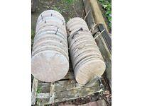 Decorative stepping stones/circles/slabs