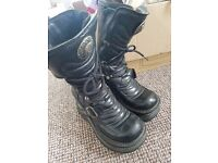 NEW ROCK PLATFORM BOOTS WOMEN'S SIZE 38