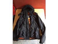 Black/Orange Superdry Jacket XS