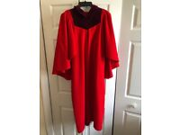 Red St Andrews University undergraduate gown