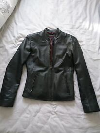 Real leather jacket (black) by SARDAR OF LONDON. Size 12 in excellent condition