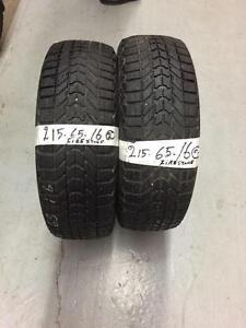 2 Firestone winterforce tires:215/65R16