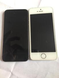 IPhone 5s unlocked white on ee
