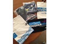 5 running event t-shirts, all medium, never worn, brand new.