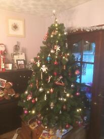 6ft Artificial Christmas Tree with Star and Lights