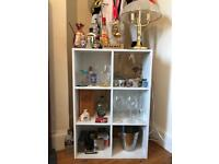 White cube ikea shelving unit