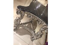 vintage marble effect decorative table, console table, shabby chic