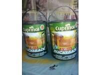 2 large tins of cuprinol