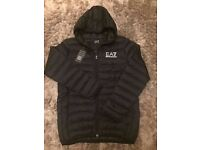 Premium Quality Armani Padded Hoody Jacket. Sizes S-XXL Available. Only £50. In Black.