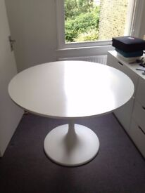 White IKEA Docksta Round Table - Dining Room, Living Room, Office etc