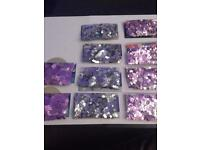 Unopened sparkly hearts for table decor/conffetti