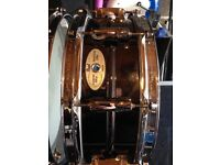 """Pearl Sensitone brass snare drum 14""""x5"""""""