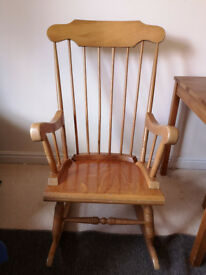 Traditional Solid Wood Rocking Chair