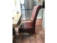 4 faux leather Next dining chairs