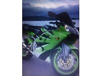 Kawasaki Zx6r owned for four years covering 1600 miles in that time.