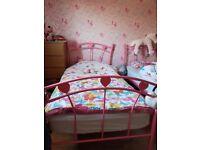 Girls heart beds