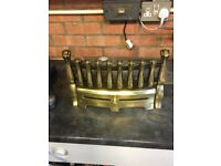 Polished Brass Fret Front Solid Fuel Fire Grate