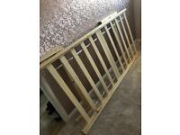 Free new single bed frame Ams space saver cot in grey