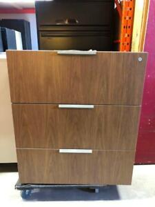 Teknion 3 Drawer Laminate Lateral Filing Cabinets - $250