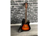 Fender Electro Acoustic Guitar with Fender Case and 20W Amp