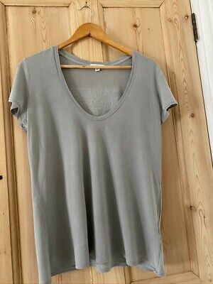 James Perse grey green t shirt size 3 with NY towns print