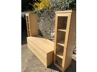 IKEA Bonde Tall Glass Display Cabinets and TV Unit