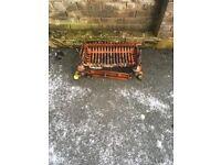 Dog basket fire grate