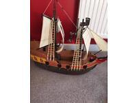 Playmobil pirate ship and treasure island