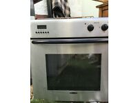 Electric oven and gas hob in silver working order private sale