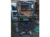 Olympic weightlifting gym set up (£1700 new)