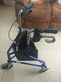 Mobility assisting 3 wheel walker and 4 wheel walker for sale, both great condition