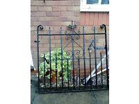 Double driveway cast iron heavy gates
